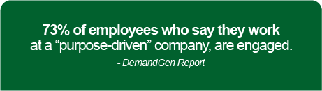 """'73% of employees who say they work at a """"purpose-driven"""" company are engaged'"""